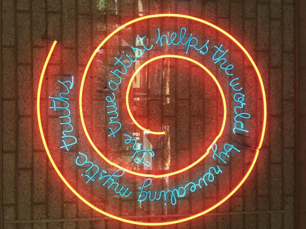 Bruce Nauman. Window or Wall Sign (1967). Collectie: Kröller-Müller Museum